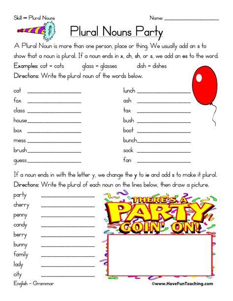 plural noun worksheet plural noun worksheet change