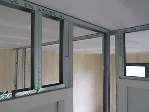 Poser Placo Mur Avec Rail : comment monter une cloison en placo ~ Melissatoandfro.com Idées de Décoration