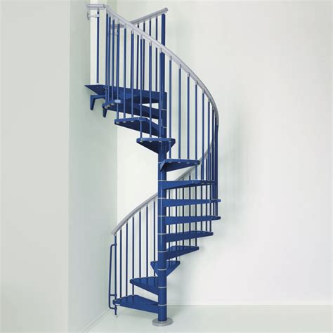 Colorful Spiral Staircase Boosting Indoor Energy : STEEL