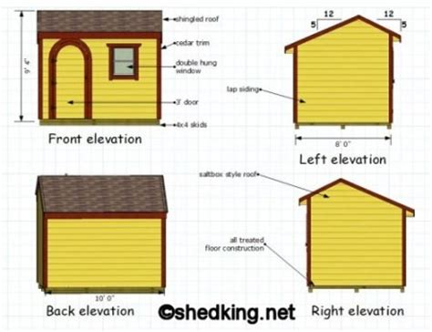 8x10 Saltbox Shed Plans by Mig Build Wooden Shed Qld Tab