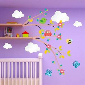 awesome stickers chambre bebe nuage photos awesome With affiche chambre bébé avec fleur de kenzo