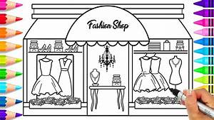 How To Draw A Fashion Store For Kids