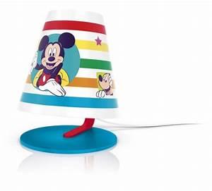 Lampe De Chevet Pour Enfant : lampe de chevet pour enfant mickey mouse philips avec led ~ Melissatoandfro.com Idées de Décoration