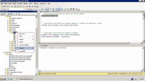 Sql Server Create User (tsql) Youtube