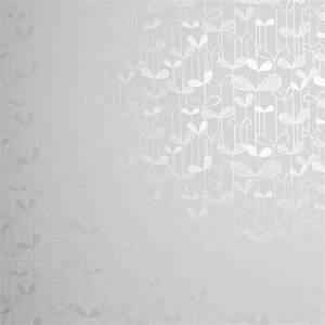 Papier Peint Blanc Relief : papier peint blanc et argent d licates fleurs saplings missprint au fil des couleurs ~ Melissatoandfro.com Idées de Décoration