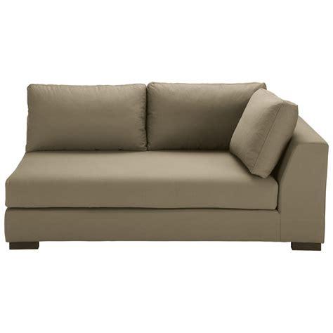 canapé droit canapé modulable accoudoir droit en coton taupe terence