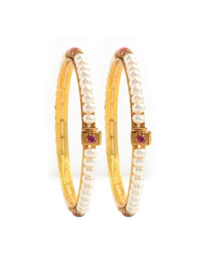 fresh water seed pearl gold plated alloy bangle buy