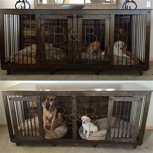 The double doggie dentm indoor rustic dog kennel for two for Wooden indoor dog pen