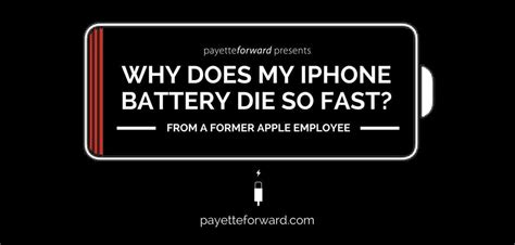iphone battery drains fast why does my iphone battery die so fast here s the real fix