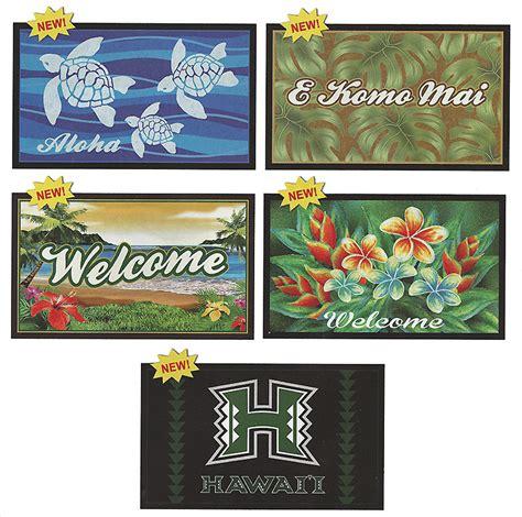 hawaiian doormats hawaiian tropical decor door mats