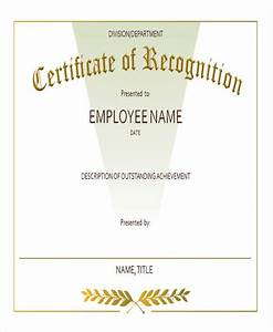 23 blank award certificate With employee recognition awards templates
