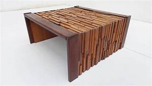 brazilian brutalist mixed tropical wood coffee table by With mixed wood coffee table