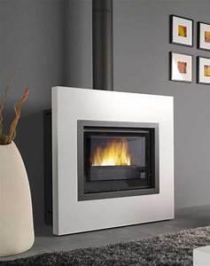 Cheminée Bois Design : cheminee poele moderne ~ Premium-room.com Idées de Décoration