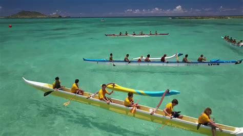 hawaii outrigger canoe race  kailua dji mavic pro  youtube