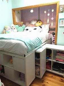 Ikea Hacks Podest : storage bed ikea hack expedit hack under bed storage crafts pinterest ikea bed bed and ~ Watch28wear.com Haus und Dekorationen