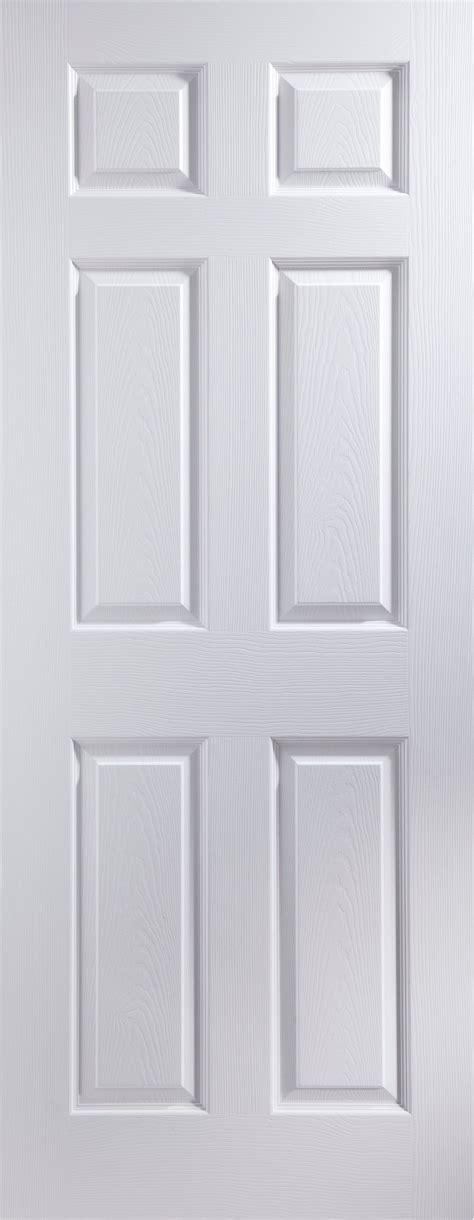 Living Room Doors At B Q by 6 Panel Pre Painted White Woodgrain Door H 1981
