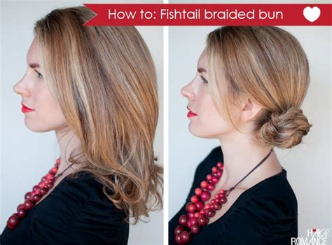 How-to Fishtail Braided Bun Hairstyle