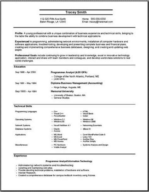 effective resume format examples source