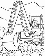 Coloring Excavator Pages Construction Backhoe Vehicles Deere John Tractor Printable Police Motorcycle Drawing Trailer Template Clipart Gator Elegant Sketch Getdrawings sketch template