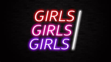 girls girls girls neon bar sign liberty games