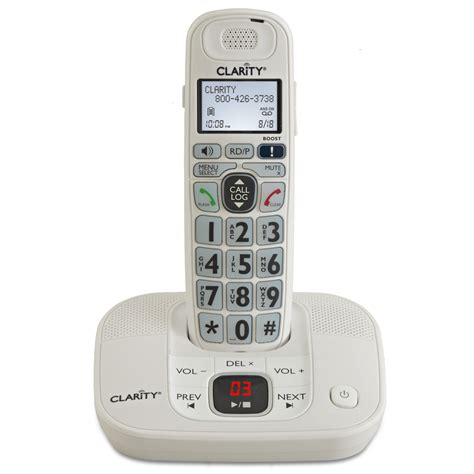 cordless phone with answering machine clarity d712 lified low vision cordless phone with
