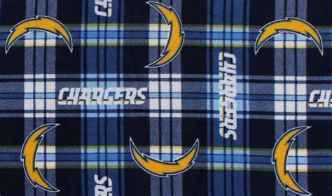 Fleece Los Angeles Chargers Plaid Nfl Football Fleece