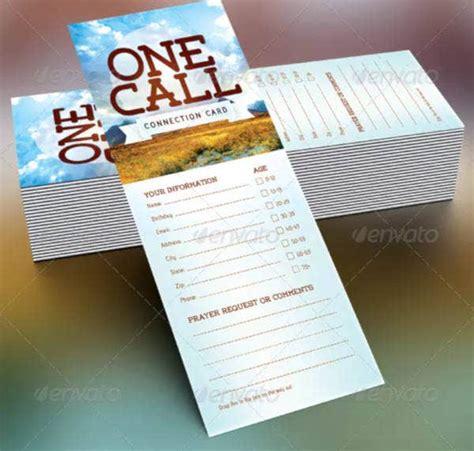 church connection card templates  psd