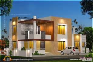 contempory house plans floor plan and elevation of modern house home kerala plans