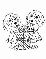 Coloring Puppy Pages Twin sketch template