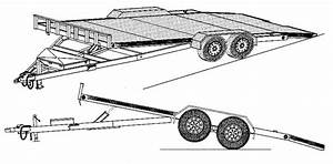 Hydraulic Tilt Car Hauler Trailer Plans 82 U0026quot  X 19 U0026 39