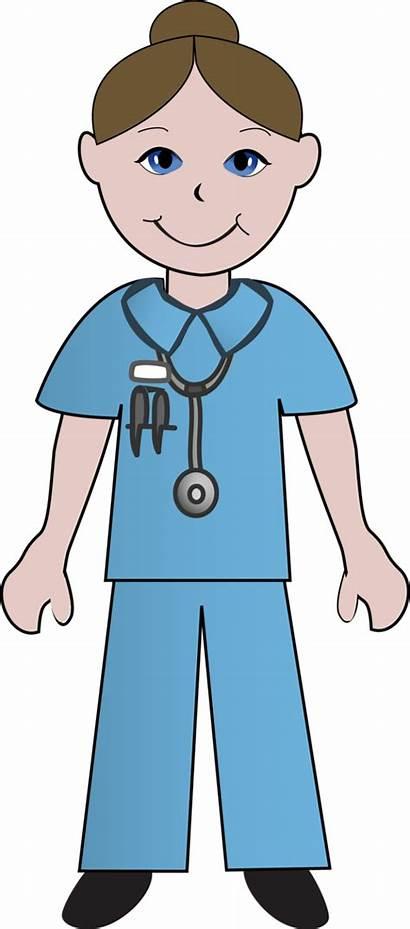 Nurse Cartoon Male Clipart Clip Nurses Doctors