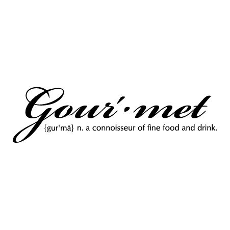 gourmet connoisseur definition wall quotes decal