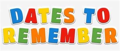Dates Remember Important Clipart Clipartxtras Transparent Pngkit