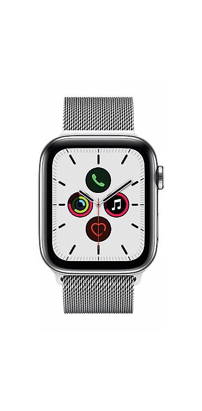 Apple Series Silver 44mm Stainless Steel Milanese