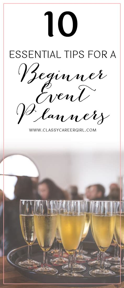 10 Essential Tips For A Beginner Event Planner 10