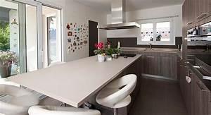 Idee de cuisine avec ilot central galerie et net idee for Idee deco cuisine avec meuble salle a manger complete moderne pas cher