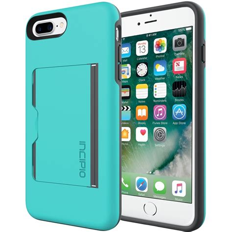 Here we came with a list of best iphone se case with credit card holder so you can pick any one case, even though, i promise that you would be happy while you will use your iphone se/5s with this loved case. Incipio - STOWAWAY Case for Apple iPhone 7 Plus - Charcoal/Turquoise | Iphone 7 plus, Smartphone ...