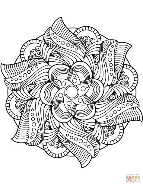 Blomster mandala tegninger   Mandala   Lotus mandala design, Mandala coloring, Mandala coloring