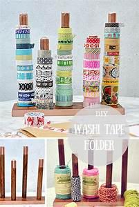 DIY Handy Washi Tape Holder TwineRibbon Holder Pillar