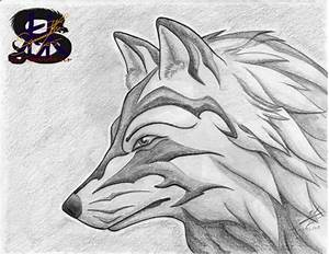 Tribal Glare - Wolf - Pencil Art by sammacha on deviantART
