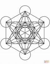 Cube Coloring Mandala Metatron Geometric Geometry Sacred Mandalas Printable Symbols Designlooter Shapes Ipad Compatible Patterns Supercoloring Drukuj sketch template