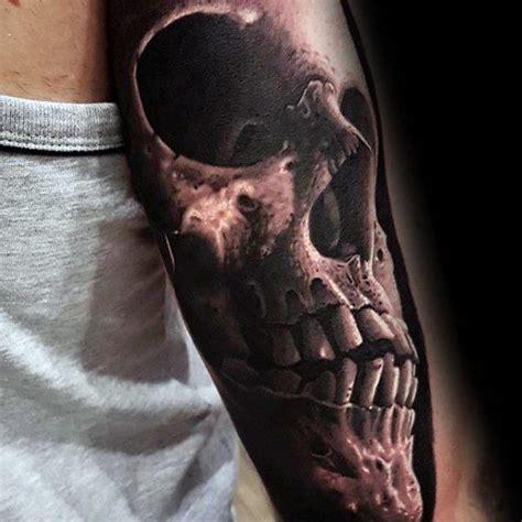 unique skull tattoos  men manly ink design ideas