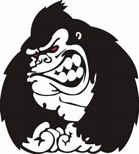 Gorilla Sticker Vectored by TheGorillaMan on DeviantArt