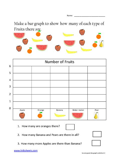1st grade math worksheet bar graphs second grade bar graph grade 2 bar graphs