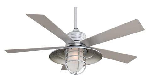 minka aire  light galvanized ceiling fan galvanized