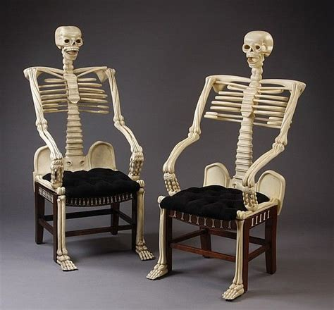 foto de Lot 317: (2) Carved mahogany skeleton chairs Great