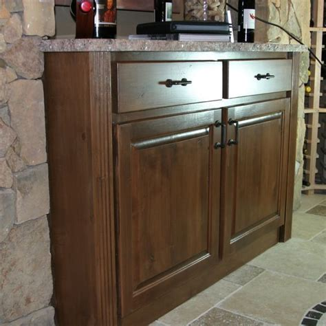handmade wine room cabinet with granite top by craig s