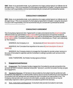 consulting agreement 11 free word pdf documents With standard consulting agreement template