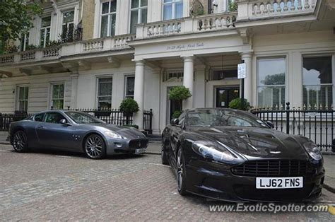 Aston Martin Dbs Spotted In London, United Kingdom On 09
