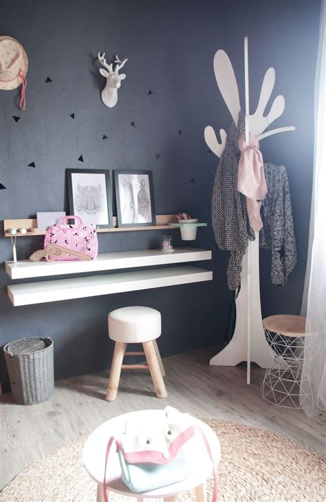 bureau coiffeuse fille bureau enfant diy porte manteau arbre scandinave moderne